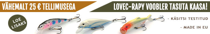 Vähemalt 25 EUR tellimusega Lovec-Rapy lant tasuta kaasa!